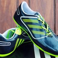 Sepatu Futsal Adidas Predator Anak HItam Hijau (Bola,Nike,Anak,Puma)