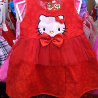 dress baju anak / baby imlek hello kitty 6 -12 bulan