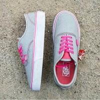Sepatu Kets Vans California Cewek Abu Pink Keren Murah IFC Lucu Baru