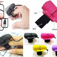 Mouse Jari Kabel USB Hitam / Biru    Finger Mouse