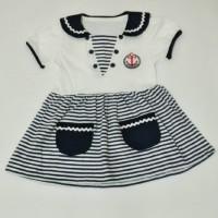 Dress Sailor Warna Biru Dongker