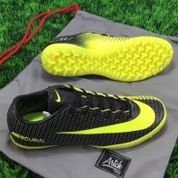 Sepatu Futsal Nike Mercurial Vapor XI Turf CR7 Gold Black