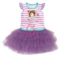 G2342 Baju Dress Anak Caluby Tutu Dress Sofia Purple