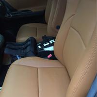 Jok Permanen / paten bahan kulit Articoleder mobil 3 baris