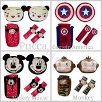 Paket Bantal Set mobil (Mickey mouse, monkey, Kapten Amerika, pucca)