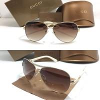 Kacamata Gucci Aviator 160659 Mocca Sunglass Wanita Fashion