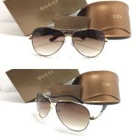 Gucci Aviator 160659 Coklat Kacamata Sunglass Wanita Fashion