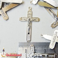 Bandul Salib Logam Bahan Souvenir Kalung Rosario - Yesus - Jerusalem