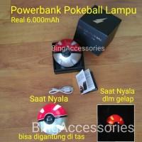 powerbank pokemon pokeball lampu 6000mAh ( pikachu avenger hello kitty