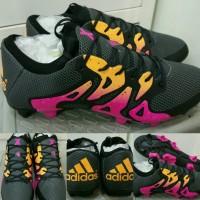 Sepatu bola  Adidas X 15.1 2016 FG Black Pink Orange Replika Impor