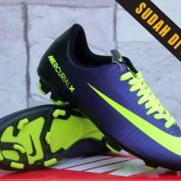Sepatu Bola Nike Mercurial X Hitam Ungu Kw Super (Soccer-Foot Ball)