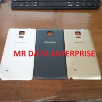 Backdoor Backcover Tutup Casing Belakang Samsung Note4 Note 4 Original - Emas