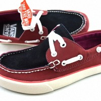 sepatu VANS 93 SUEDE ZAPATO pria merah hitam