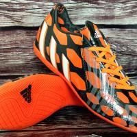 Sepatu Futsal Adidas Predator Instinct Hitam Orange Grade Ori