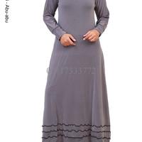 Gamis Jersey Rempel Polos - Baju Gamis - Gamis Muslimah - Gamis
