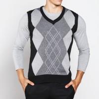Sweater Rompi Rajut Hitam - Knitt Vest 04