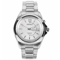 Jam Tangan Seiko SKA475P1 Kinetic Full Silver