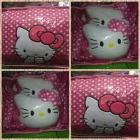 Sarung Jok Khusus Mobil Agya&Ayla Motif Hello Kitty Pink Bintik Putih