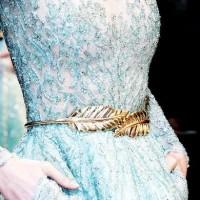 gold leaf plat belt / ban pinggang daun / ban pinggang wanita motif