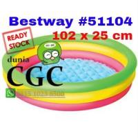 Kolam Renang Bestway Pelangi 51104 Khusus Kurir Gojek Bola Mandi Anak