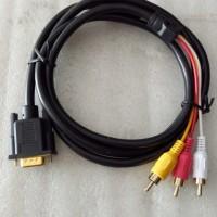 Kabel VGA to 3 RCA panjang 1,5 meter