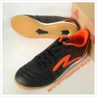 Sepatu Futsal Specs Horus In Black Orange Original