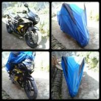 cover motor vixion ,ninja, r15, r25, cb150, cbr / selimut motor laki - maroon