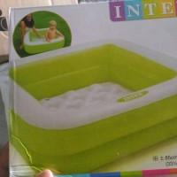 kolam renang bola intex anak baby hijau dan pink 57100