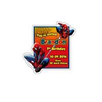 Kartu undangan ulang tahun bentuk karakter - SPIDERMAN 1
