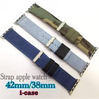 Strap Apple Watch 42mm/38mm-denim Jeans - Army Look-murah