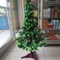 Pohon natal plastik hijau 3 feet