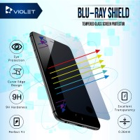 iPhone 7 - Violet - Anti Blue Ray Tempered Glass