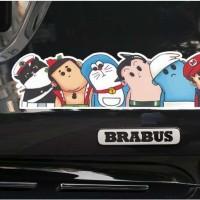 Aksesoris Mobil Motor Stiker Doraemon Mario Bros Kepala Geleng Sticker