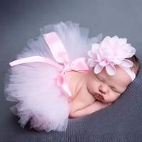 newborn baby photo costume/ kostum bayi /photo booth ROK TUTU PINK