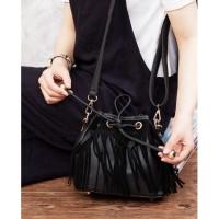 6697 black Grosir tas wanita jinjing import terbaru korea