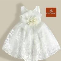 Dress anak gaun pesta baju ulang tahun party balita PD006 brokenwhite