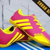 Sepatu Futsal Anak/kids/bola/junior/Adidas Predator LZ Abu Pink Anak