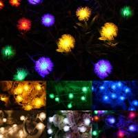 20 LED Lamp Rattan Ball String Lights Home Garden