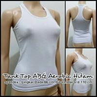 Tank Top ABG Aerobic Putih - Spandex | Agnes | Dalaman | Tanktop