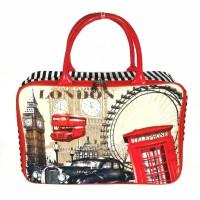 Tas travel kanvas London Paris Kincir Bianglala travel bag serbaguna