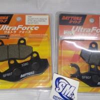 Kampas Rem / Brakepad Ninja250R/Satria FU Daytona Ultraforce Steel Fib