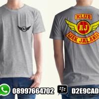 T-shirt / KAOS ANAK JALANAN /KAOS AJ CLUB /KAOS MOTOR