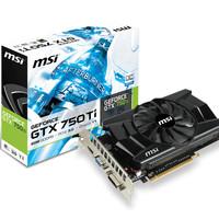 MSI GeForce GTX 750 Ti 2GB DDR5 - 2GD5/OC (1 Fan)