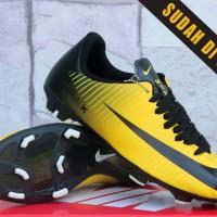 sepatu bola Nike Mercurial Hitam Kuning (terbaru,keren,murah,2016)