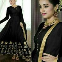 baju muslim gamis maxi black baju india wanita cantik elegant baru