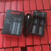AWT C2 2A USB CHARGER BATTERY 18650 DUAL SLOT