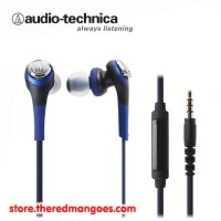 Audio Technica ATH-CKS550iS / ATH CKS550iS Solid Bass Blue