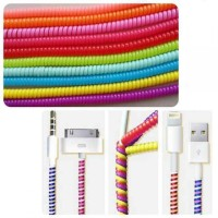 Spiral Cord Charger Cable Protector 1 Pcs / Pelindung Kabel USB