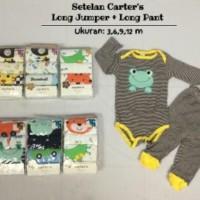 3-9M setelan long sleeve jumper + long pants piyama bayi anak carter