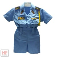 Baju Profesi Anak Cewe TNI AU / baju angkatan udara anak cewe Murah